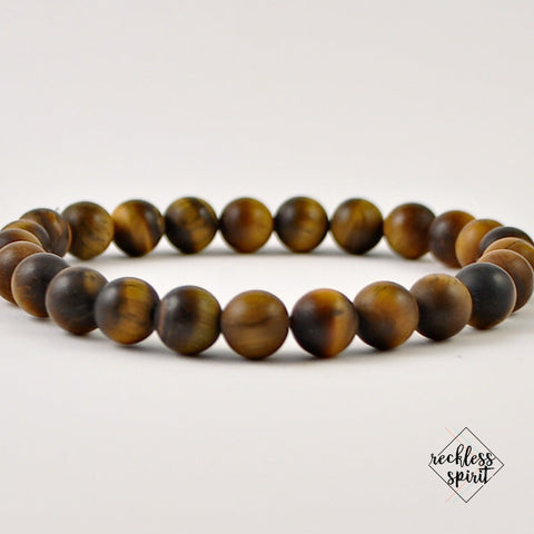 Tiger's Eye Mens Stretch Bracelet