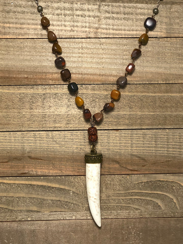 Untamed Heart Horn Tusk Necklace