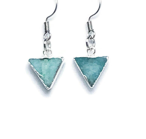 Small Amazonite Dangle Earrings