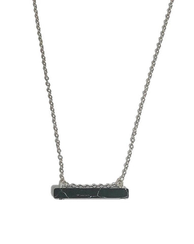 Black Howlite Bar Necklace