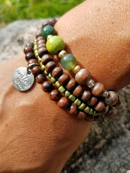 Forest Glow Bracelet Stack One-of-a-Kind