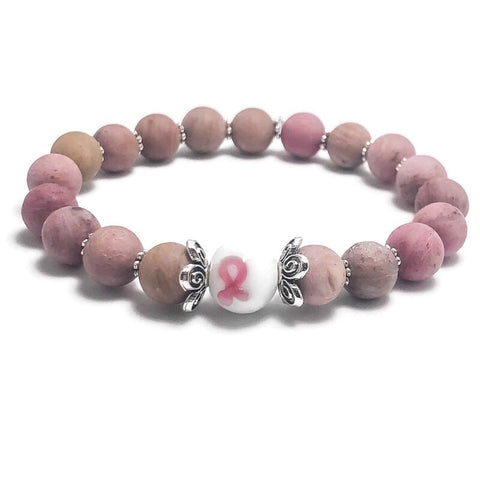 Limited Edition Breast Cancer Awareness Womens Stretch Bracelet