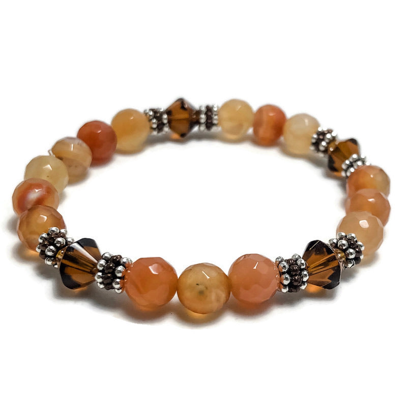 Create Your Own - Tequila Sunrise Beaded Stretch Bracelet
