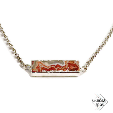 Agate Slice Choker Necklace