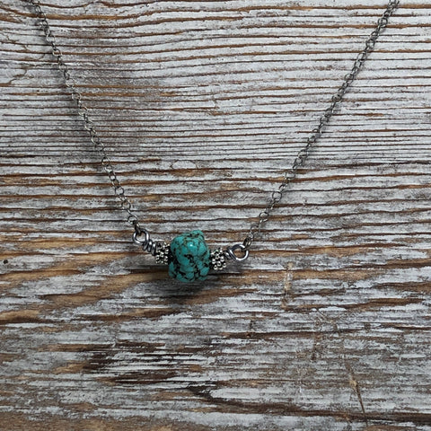 Howlite Turquoise Nugget Necklace