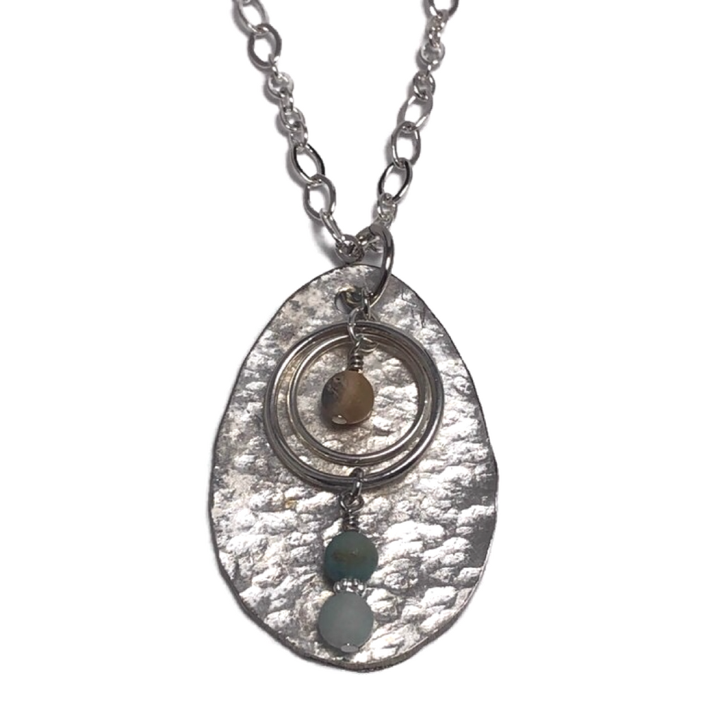 Amelia Hammered Spoon Necklace