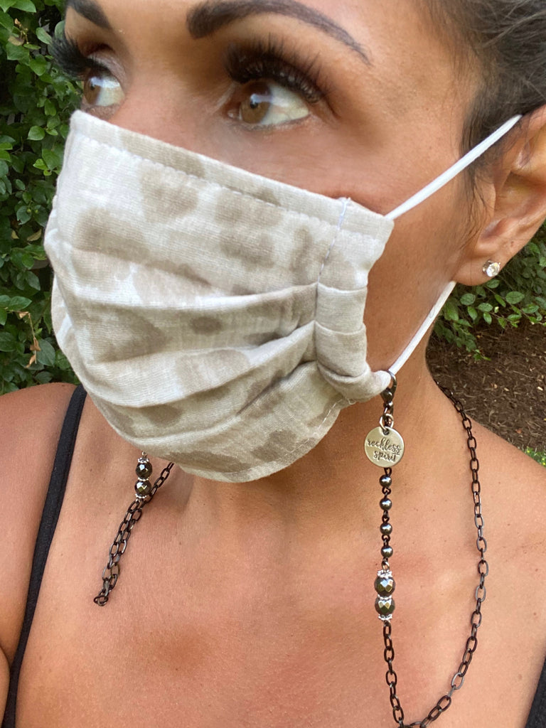 Midnight Dreamer Chain Mask Holder Lanyard