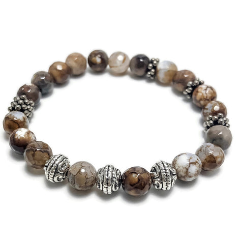 Create Your Own - Mocha Latte Beaded Stretch Bracelet