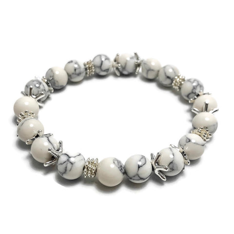 Create Your Own Gemstones Collection - Marshmallow Fluff Beaded Stretch Bracelet