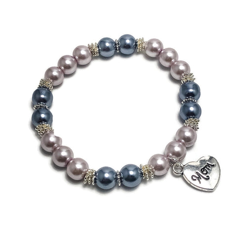 Create Your Own Pearl Collection - Love You Mom Beaded Stretch Bracelet