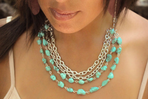 Turquoise Beauty Layered Necklace One-Of-A-Kind