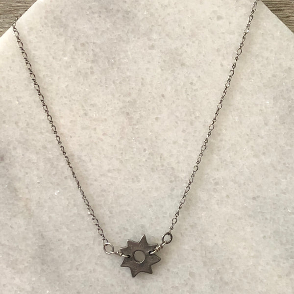 Silver Star Shine Layering Necklace