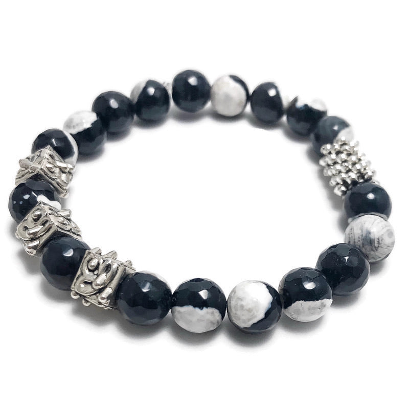 Create Your Own - Cookies and Cream Beaded Stretch Bracelet