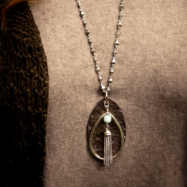 Avid Love Hammered Spoon Necklace