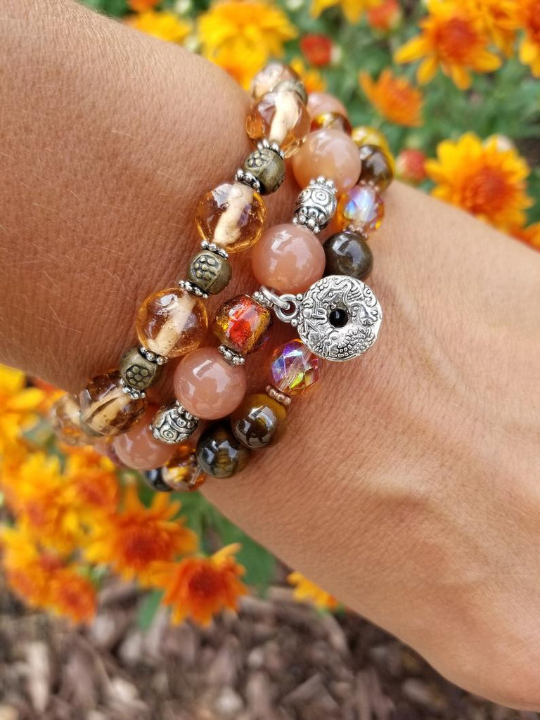 Candied Orange Bracelet Stack