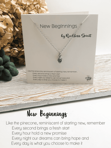 New Beginnings Pinecone Necklace