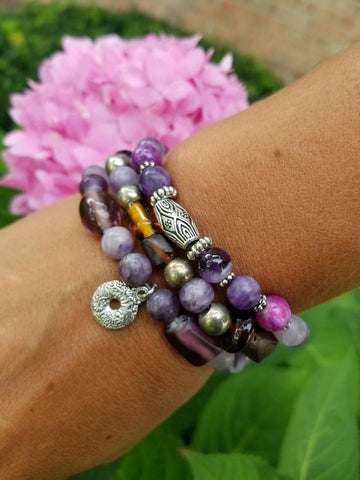 Grape Soda Bracelet Stack