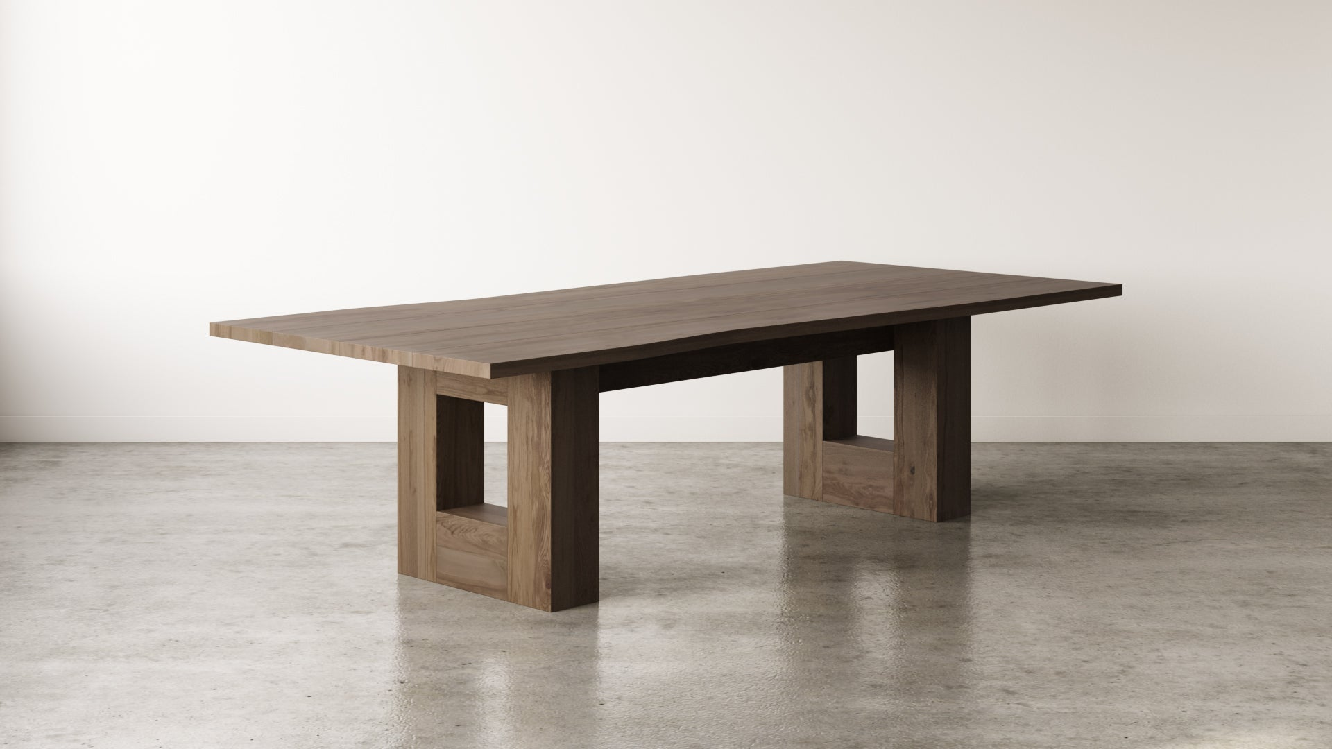 Walnut Wood Commercial Office Table Community Table New Design