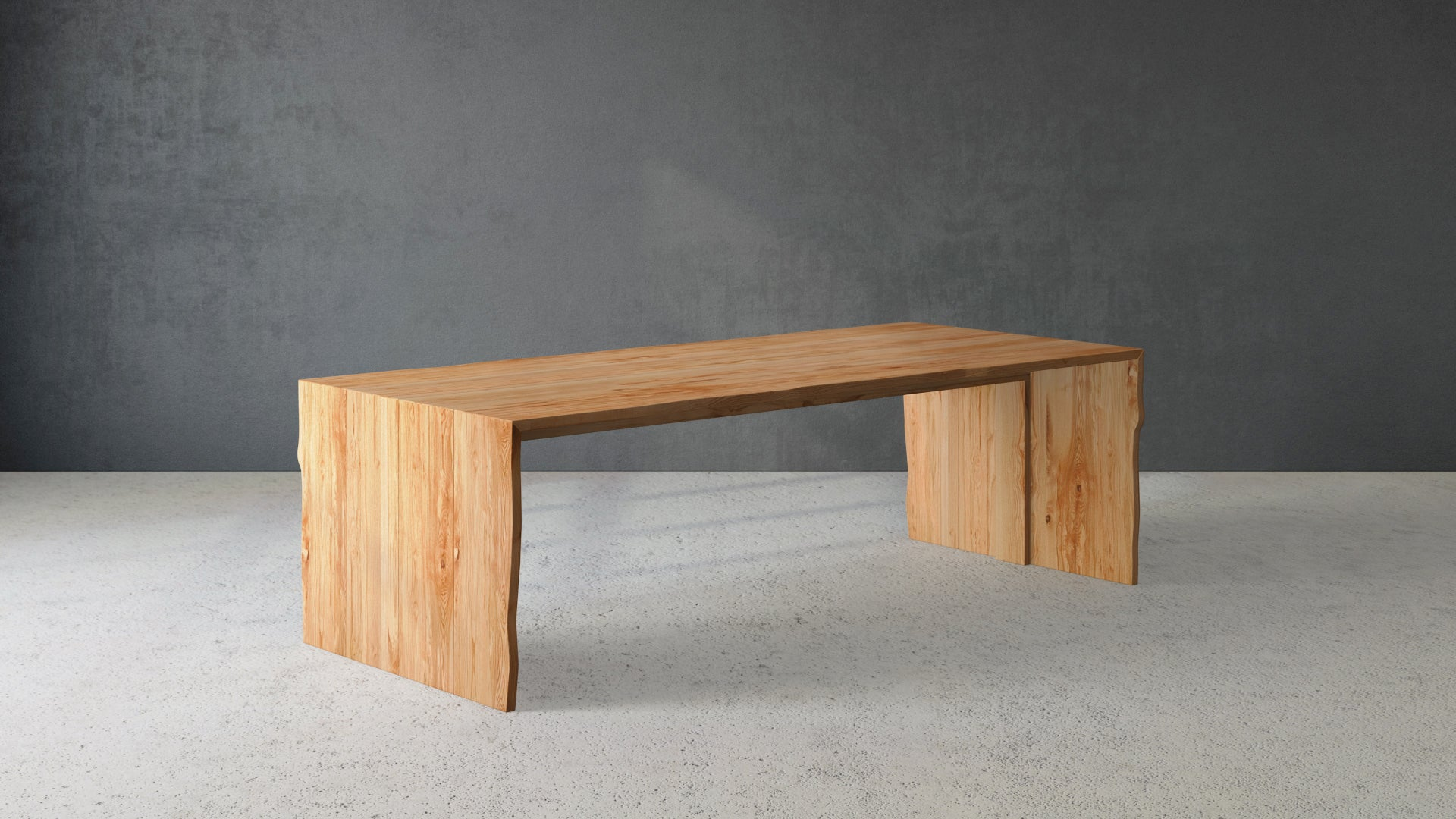 Live Edge Maple Natural Waterfall Edge Dining Table Design