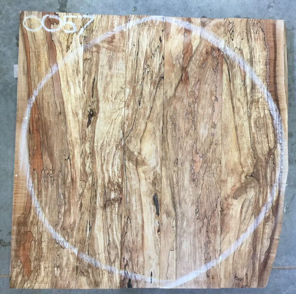 "0057 - Spalted Maple - 36""D - Meyer Wells"