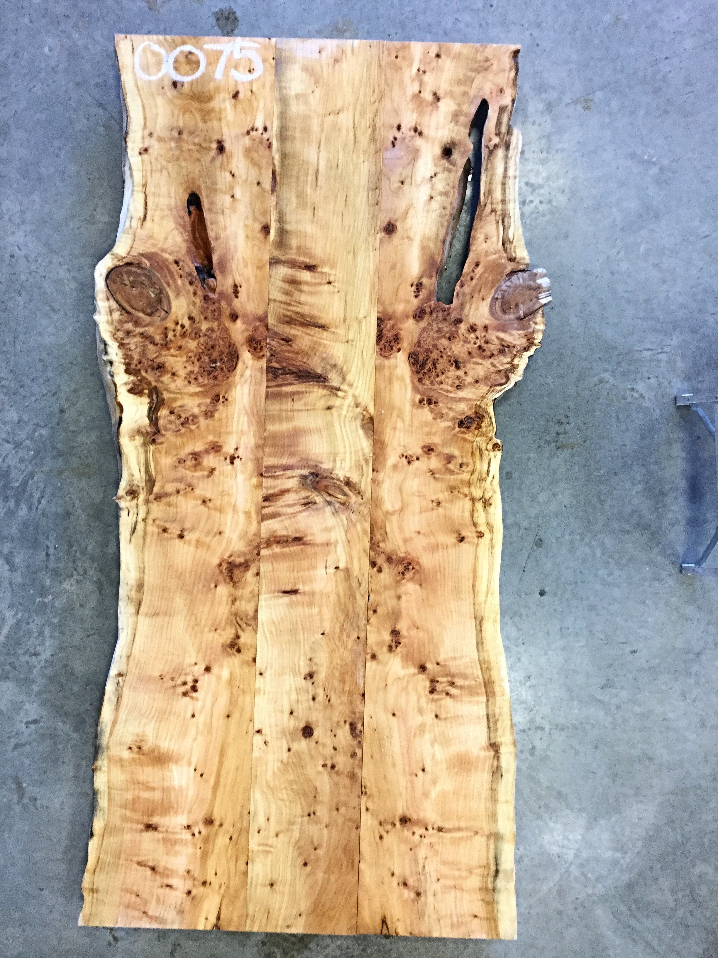 "0075 - Yellow Birch - 78""L x 40""W - Meyer Wells"
