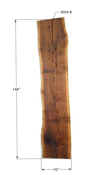 "009396 - Walnut - 145""L x 52""W - Meyer Wells"