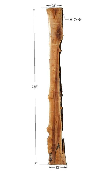 "0174175 - Maple - 136""L x 49""W - Meyer Wells"