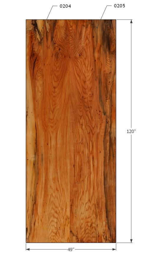 "0204205 - Elm - 120""L x 49""W - Meyer Wells"