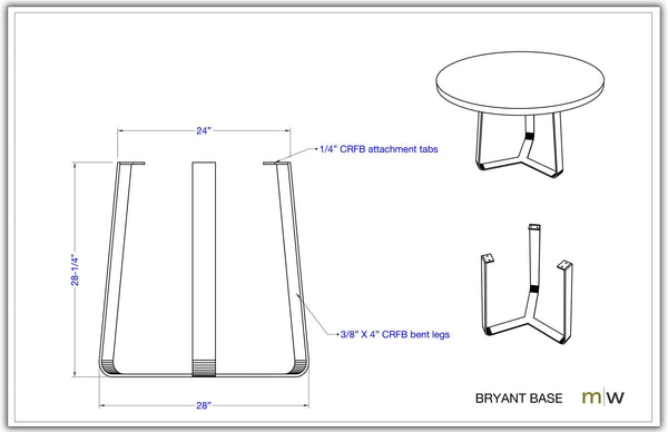 Bryant Base - BRY-M-28-30 - Meyer Wells