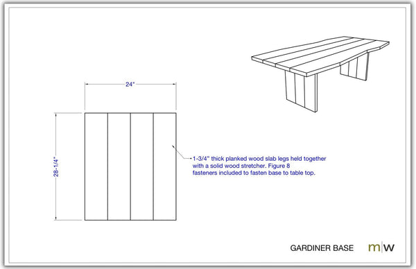 Gardiner Base - GAR-M-24-30 - Meyer Wells