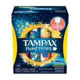 Tampax Pocket Pearl Tampons, One Month Supply (Choose Your Fit) - BroadBox