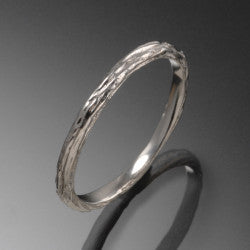 White Gold Pebble Ring