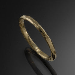 Yellow Gold River Ring