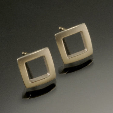 Sterling Silver Small Square Post Earrings