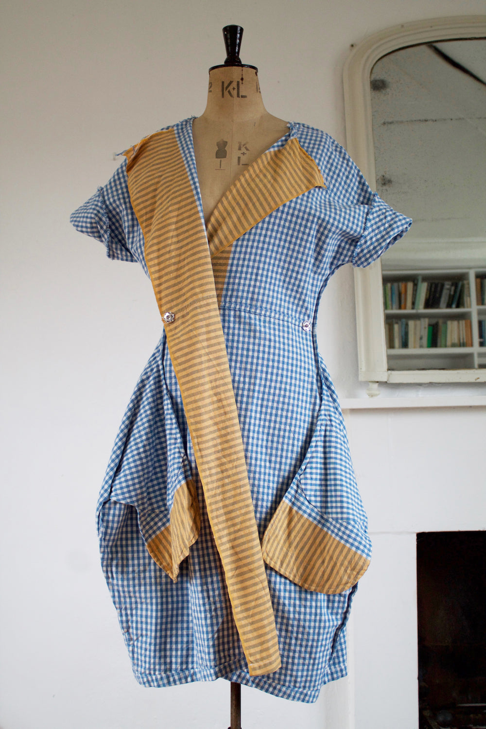Gingham Point Dress (Yellow)