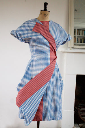 Gingham Point Dress (Red)