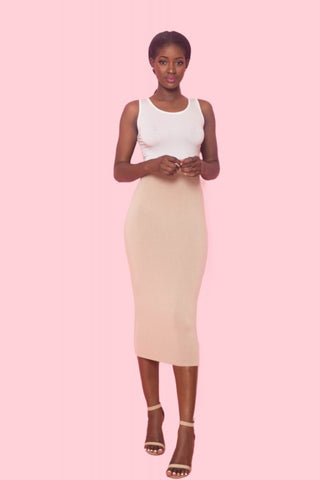 Stush Pencil Skirt Nude