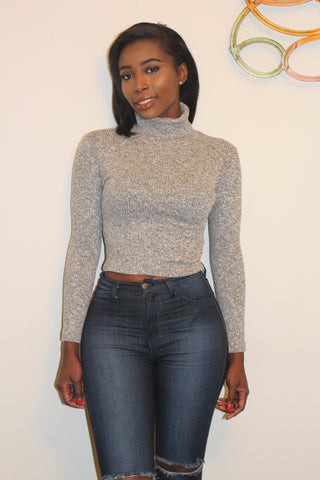 Cuffed Turtle neck Sweater
