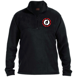 Embroidered Logo 1/4 Zip Fleece Pullover