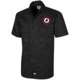 Embroidered Logo Men's Short Sleeve Workshirt