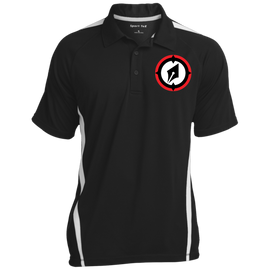 Embroidered Logo Men's Colorblock 3-Button Polo