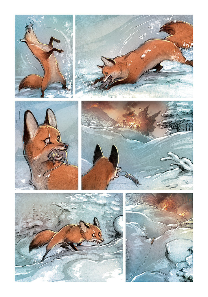 LOVE: THE FOX, by Brremaud and Bertolucci w/ Art Print