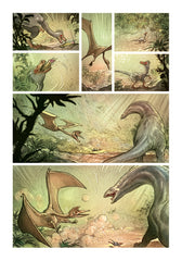 LOVE: THE DINOSAUR, by Brremaud and Bertolucci w/ Art Print