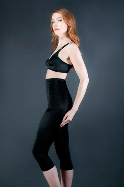 Lower Abdominal Support Leggings - Below the Knee, High Waist-2