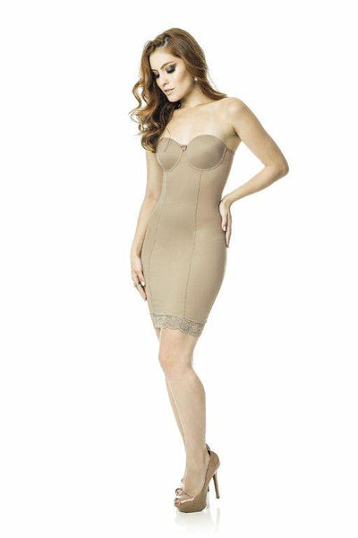 Shapewear Slip Dress w/o Straps - Reinforced Cups