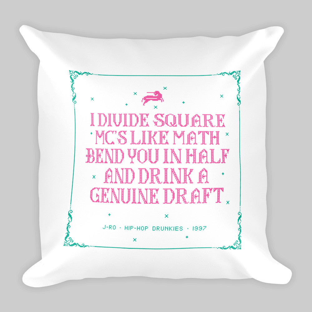 Genuine Draft • Drunk Cross-Stitch Pillow