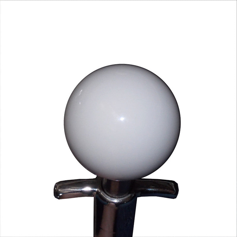 "1-7/8"" White Muncie 4 Speed Shift Knob"