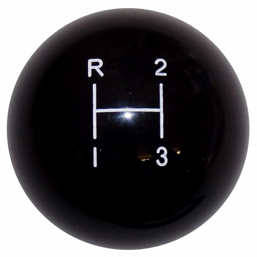 3 Speed Black Shift Knob