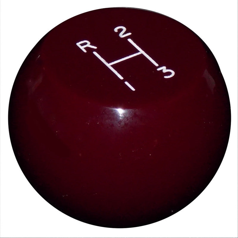 Flat Top 3 Speed Burgundy Shift Knob