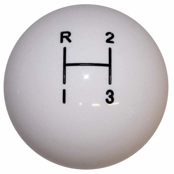 3 Speed White Shift knob